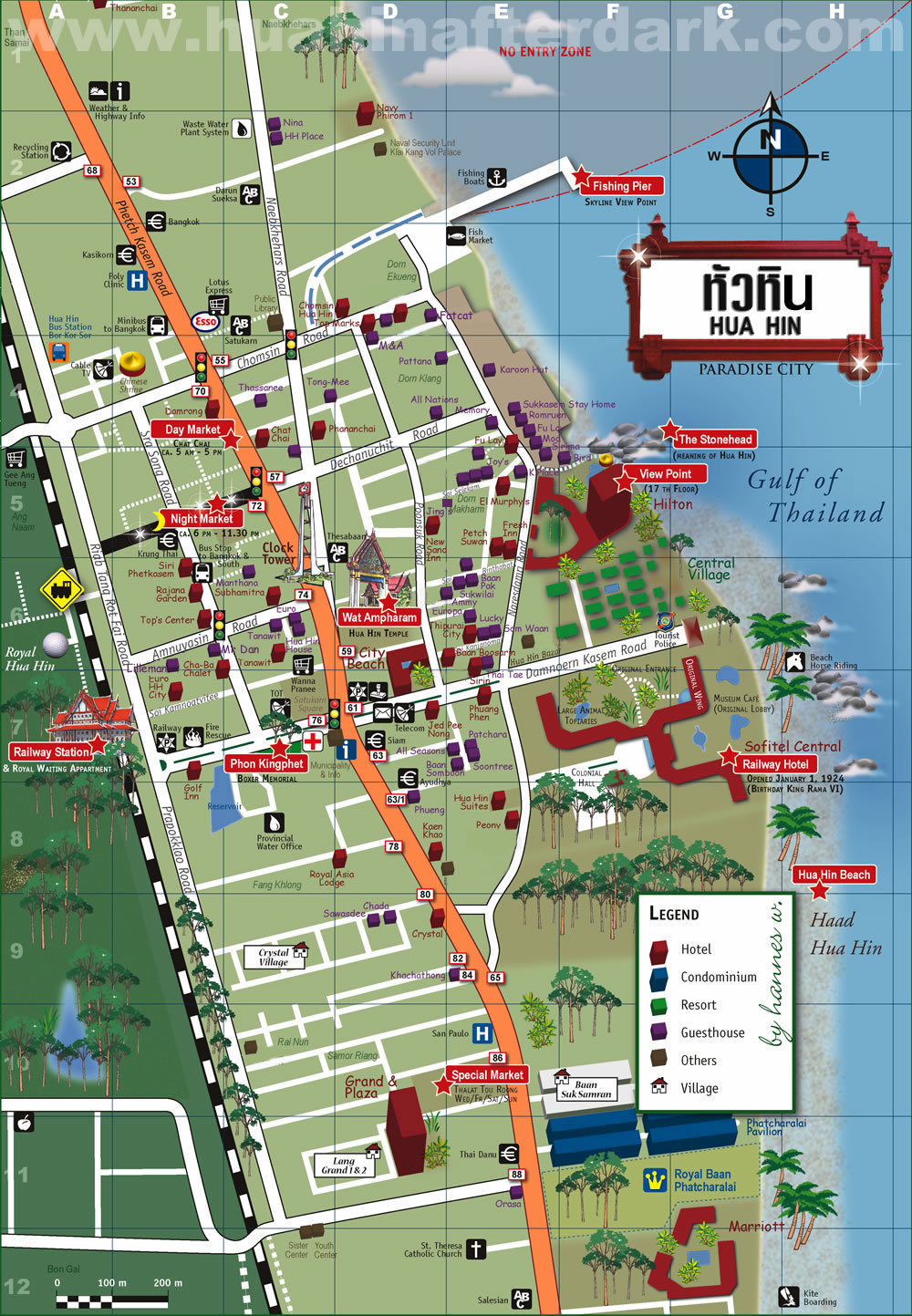 HHAD   Hua Hin Map Hua Hin Area Map Hua Hin City Map